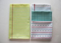 """Yellow Lined """"Paper"""" Towel - Decorative Cotton Tea Towel, Fun gift for teachers or students!"""