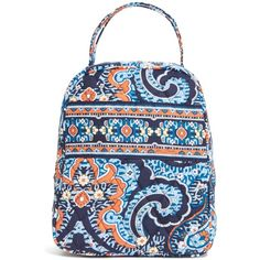 Vera Bradley Lunch Bunch Bag in Marrakesh ($34) ❤ liked on Polyvore featuring home, kitchen & dining, food storage containers, bags, accessories, lunch bags, marrakesh, lunch bag, brown lunch bags и lunch thermos