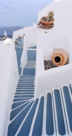 GREECE CHANNEL | Sea Stairs - Santorini, Greece - Photo by Dennis Barloga ........
