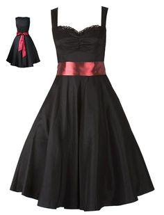 Robe noir et rouge grande taille