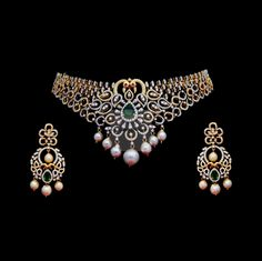 There are diamond necklaces that cover a complete variety of hues. Diamonds are put in numerous different color classifications. Colorless and white are two of them. Diamond Necklace Set, Diamond Jewelry, Silver Jewelry, Gold Necklace, Diamond Choker, Choker Necklaces, Stone Necklace, Jewelry Art, Jewlery