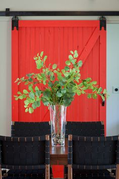 Door  : Sherwin Williams paint color Red Obsession SW7590.