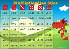 Multiplication Dice Game - 2, 3, 5 9 Times Table, Times Tables Games, Table Games, Literacy Games, Math Games, Learning Activities, Multiplication Dice Games, Maths, Reading Games