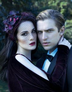 Michelle Dockery & Dan Stevens - ( Downton Abbey )Evening Standard Magazine by Nicole Nodland, December 2nd 2011