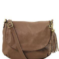 Michael Kors Jamie Large Suede Crossbody Dark Camel Crossbody Bag