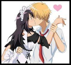 Misaki x Usui Best Romantic Comedy Anime, Maid Sama Manga, Anime Suggestions, Natsume Yuujinchou, Usui, Girls Anime, Kaichou Wa Maid Sama, Cute Anime Couples, Anime Love