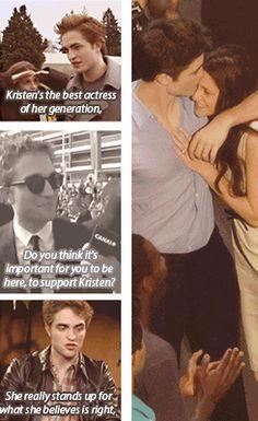 Rob is definitely Kristen's biggest fanboy