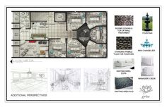 Day Spa Floor Plans | Day Spa - second floor plan, materials and additional perspectives