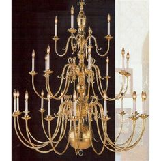 "Weinstock 355/60""-16+8+4 28 Light Williamsburg-Style Chandelier at ATG Stores"