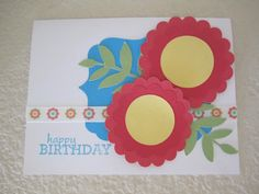 Large Flower card with ribbon