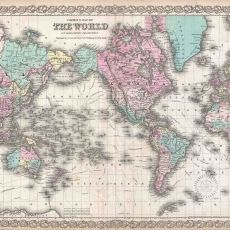 Antique World Map Canvas Art Print Ready to Hang by OuttakeCanvas, All World Map, World Map Canvas, World Map Wall Art, Wall Maps, Wall Mural, Antique World Map, Antique Maps, Vintage Wall Art, Vintage World Maps