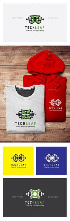Tech Leaf - Logo Design Template Vector #logotype Download it here: http://graphicriver.net/item/tech-leaf-logo/12370868?s_rank=593?ref=nesto