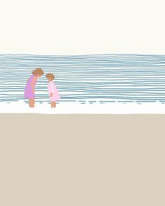 Fine Art Print. Girls at the Beach. June 19, 2014.