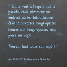 #quote #FlaviadeLuce #GrandsDétectives Alan Bradley