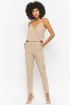 Pinstriped Layered Jumpsuit