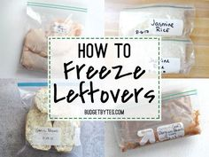 A quick start guide on how to freeze leftovers. Save time, effort, and money by freezing your leftovers and extra ingredients. @budgetbytes