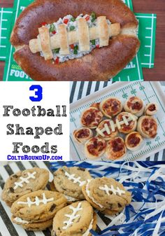 3 Football Shaped Foods that will win over your football fans!