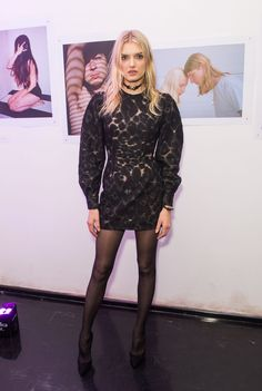 Lily Donaldson in pantyhose