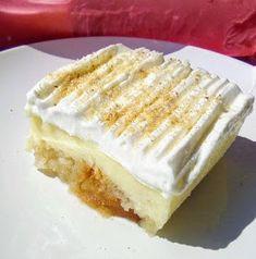 ΜΑΓΕΙΡΙΚΗ ΚΑΙ ΣΥΝΤΑΓΕΣ 2: Φρυγανιές σιροπιαστές με κρέμα !!! Custard, Vanilla Cake, Sweet Recipes, Food And Drink, Sweets, Bread, Cooking, Desserts, Pastries