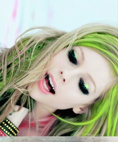 the beautiful, Avril Lavigne. i loved this shot.