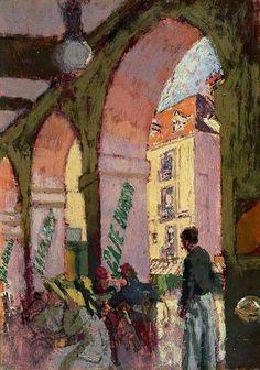 The Café Suisse  (Café des Arcades, Dieppe, France), 1914  by Walter Richard Sickert