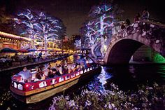 San Antonio, Texas River Walk. Ranked 8th by Yahoo Travel for best place to see Christmas lights in the United States. :)