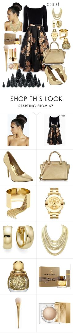 """""""Coast"""" by dijanakovacevic ❤ liked on Polyvore featuring Boohoo, Michael Kors, BaubleBar, Movado, Kendra Scott, Christian Dior, Burberry and Yves Saint Laurent"""