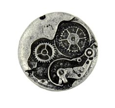 Steampunk+Metal+Buttons++Watch+Movement+Antique+Silver+by+Lyanwood,+$4.50