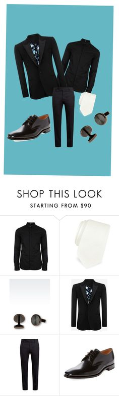 """""""Men night out"""" by abbylud on Polyvore featuring Versus, Forzieri, Emporio Armani, Alexander McQueen, Marni, Loake, men's fashion and menswear"""