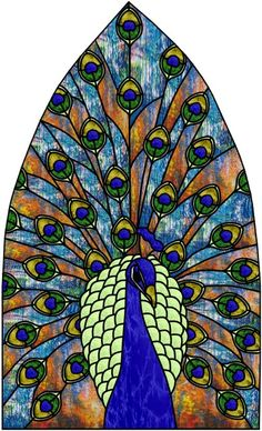 Brecon Peacock Stained Glass