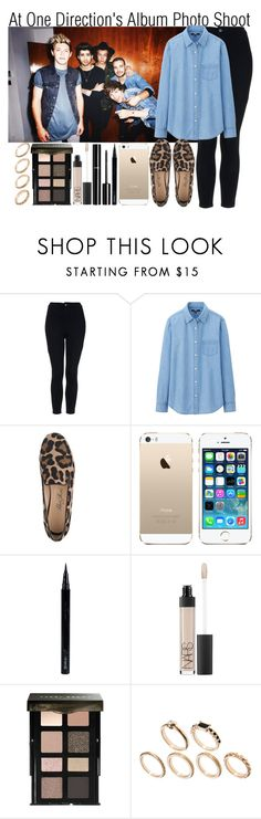 """""""At One Direction's Album Photo Shoot"""" by elise-22 ❤ liked on Polyvore featuring Topshop, Uniqlo, SchoShoes, Glo Minerals, Chanel, NARS Cosmetics, Bobbi Brown Cosmetics and ASOS"""