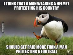 Brave soldiers deserve more than footballers