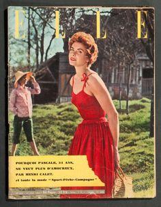 'ELLE' FRENCH VINTAGE MAGAZINE SUMMER ISSUE 14 JUNE 1954 | eBay
