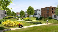 Ecowijk op oude bedrijvensite   Court-st.-Etienne
