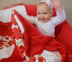 Tweener Christmas quilt from cuddlesoftkits