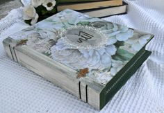 Vintage Kuran Book Box Ilsam Allah Decoupage