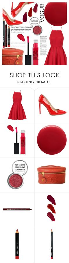 """Not My Friday Outfit"" by hopefortomorrow ❤ liked on Polyvore featuring Chi Chi, Maybelline, Oribe, Obsessive Compulsive Cosmetics, Chanel, Charlotte Russe, Ellis Faas, Bobbi Brown Cosmetics and neverwearredonfriday"