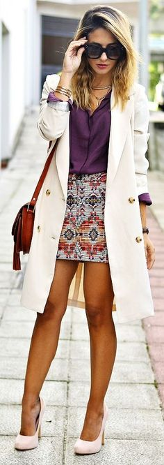 Ma Petite By Ana Ethnic Print Skirt Fall Inspo #Fashionistas