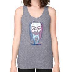 A One or a Zero Unisex Fine Jersey Tank (on woman)