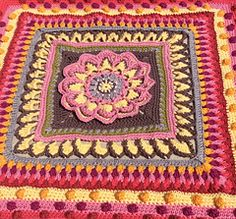 Mandala Blanket. Free ravelry download. Parts 1-5 with US instructions.