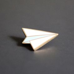 Paper Airplane Pin.