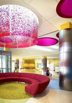 University of Minnesota Amplatz Children's Hospital; Minneapolis, Minnesota / Tsoi/Kobus & Associates © Nick Merrick of Hedrich Blessing #skylight #floral #acrylic