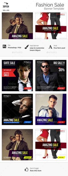 Fashion Sale Banner Template #design #ads Download: http://graphicriver.net/item/fashion-sale-banner/12326383?ref=ksioks