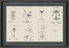 Thomas Edison Patents Collection Print