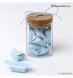 Tarro de cristal con 5 caramelos azules Detalle de Comunión o Detalle de Baby Shower, Wedding Planner, Pink, Home Decor, Color Azul, Babyshower, Wedding Planer, Decoration Home, Room Decor