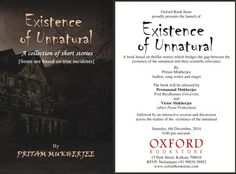 Invitation for the Book Launch of Existence of Unnatural at Oxford Bookstore