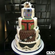 ThinkGeek on - Star Wars Cookie - Ideas of Star Wars Cookie - Star Wars Wedding CakeI'm okay with this wedding cake! I'd rather have it half and half so we could see more of the star wars tiers! Star Wars Wedding Cake, Geek Wedding, Themed Wedding Cakes, Wedding Themes, Wedding Ideas, Wedding Stuff, Dream Wedding, Friend Wedding, Perfect Wedding