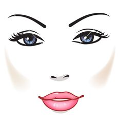 Beauty woman face vector 827749 - by ESSL on VectorStock®