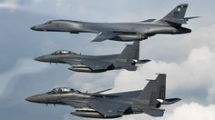 U.S. Bombers Conduct Bilateral Mission With Allies In Response To North Korea ICBM Launch - YouTube