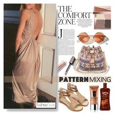 """""""Backless Loose-Fitting Dress"""" by pinki1994 ❤ liked on Polyvore featuring Bobbi Brown Cosmetics, Clinique and twinkledeals"""